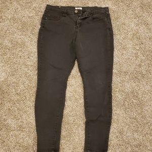 Black Mudd Skinny Jeans